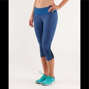 Lululemon Run for your life blue black leggings
